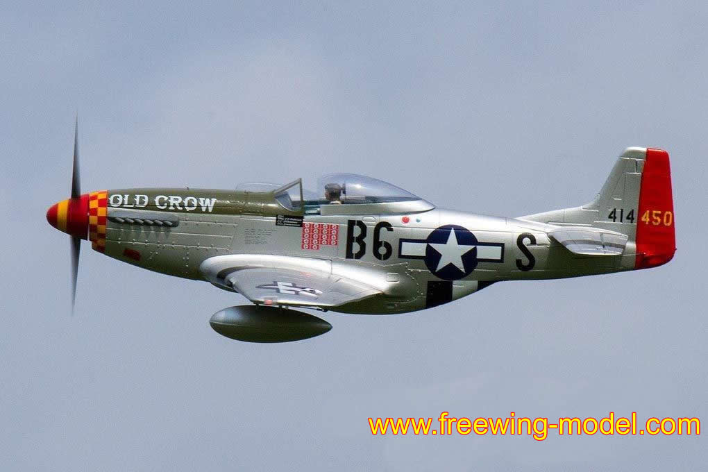 Freewing P-51D HP Old Crow 1410mm (55 inch) Wingspan PNP RC Airplane
