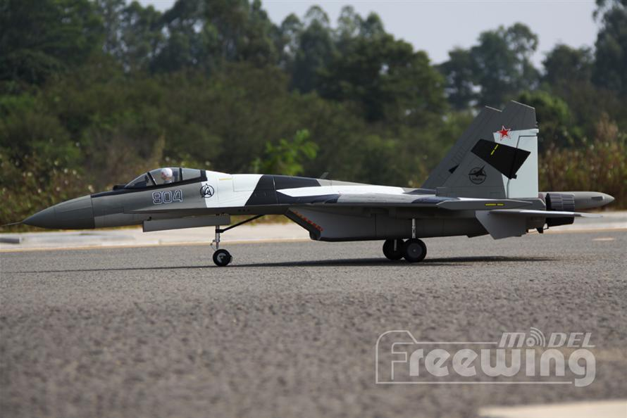 freewing su 35 Grey Camo rc airplane