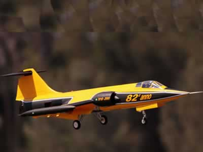 Freewing F-104 Starfighter Yellow 90mm EDF Jet-PNP Rc airplane