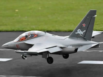 Freewing Yak-130 Red Super Scale 90mm EDF Jet 6S PNP RC Airplane